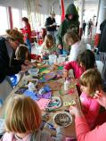 During the festival, kids of all ages enjoy creating maritime crafts aboard the ferryboat Eureka.