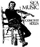 Black and white drawing of a man seated on chair playing a fiddle.