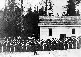 The garrison taken in front of their barracks before 1867.