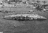 USS Oklahoma during righting operation