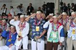 Pearl Harbor Survivors salute during 74th commemoration ceremony