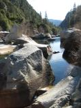 Boulders in the Merced River along gorge