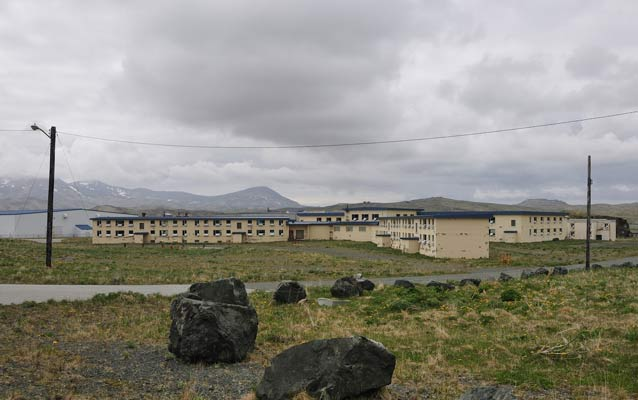Officers Quarters buildings at Adak Army Base, Adak Island.