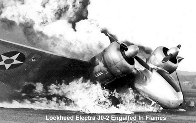 Burning Aircraft, Ewa Field, December 7, 1941