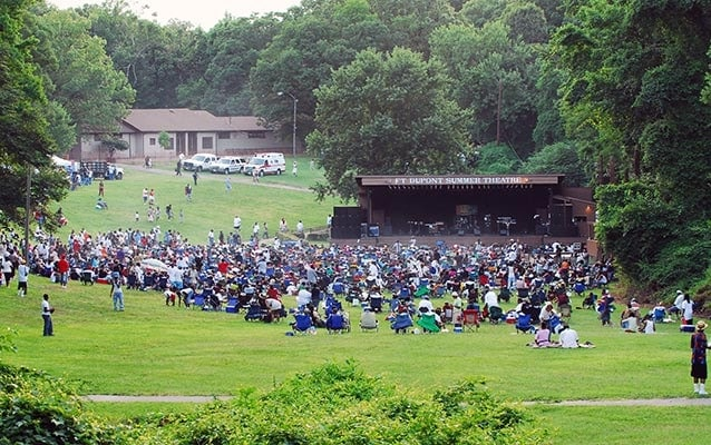 Scenic Shot of a summer concert at Fort Dupont