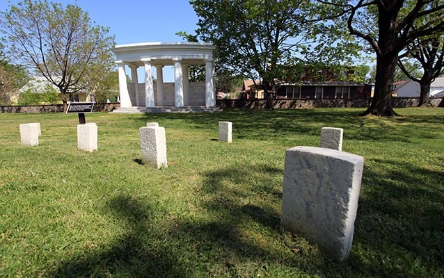 Graves at Battleground National Cemetery