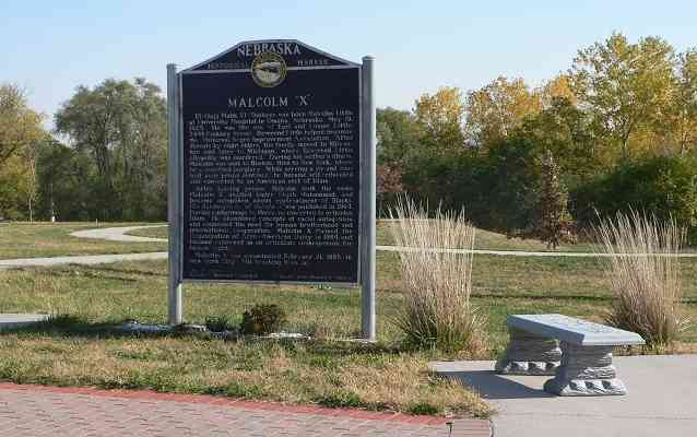 Malcolm X Omaha historical marker
