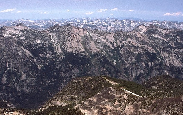 view of the bitterroot mountains