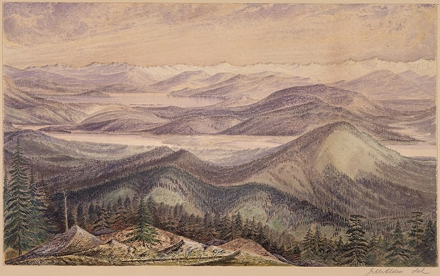 drawing of clark's lookout near dillon, montana