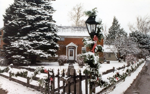 Amana Colonies dwelling in the winter