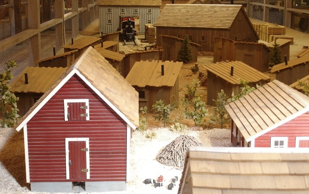 miniature farm complex in the barn museum