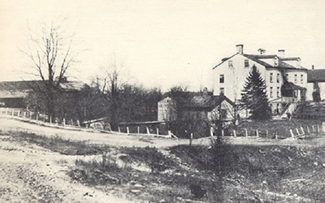 historic photo of the north union shaker settlement
