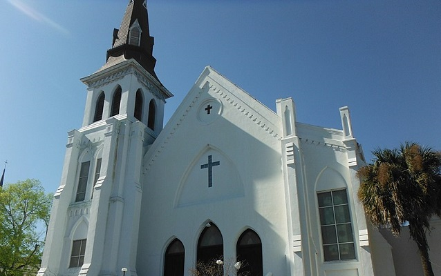 White Gothic-style church building