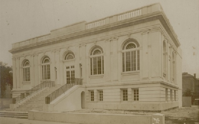 Historic photograph of the location of the Charleston Library Society on King Street.