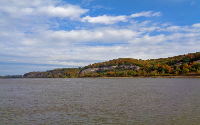 View of the bluff from the Missouri River