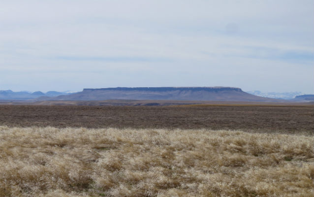 High plateau in the distance