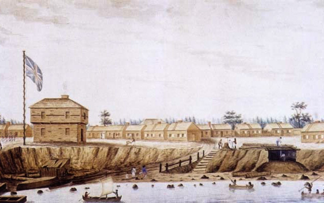 Watercolor of Fort York before its destruction