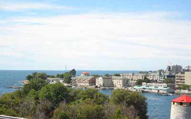 View of the bay of Kingston Navy yard