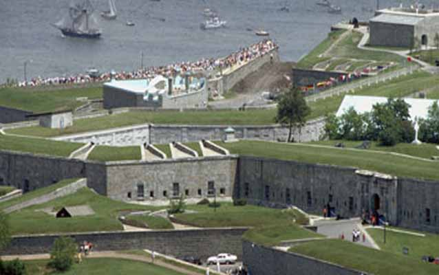 stone forts and green space at Quebec City