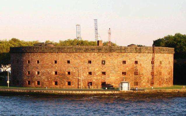 Photo of Seaward side of Castle Williams on Governors Island, New York