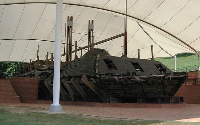 Photo of the USS Cairo on display