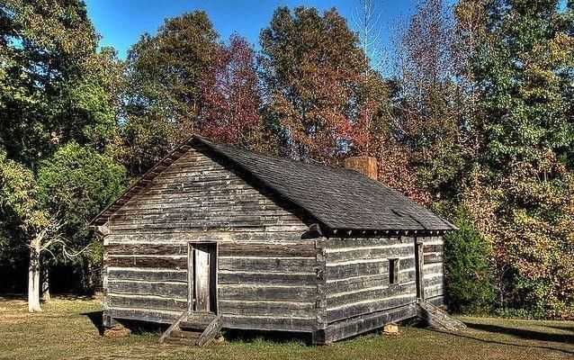 Photo of reconstructed Shiloh church