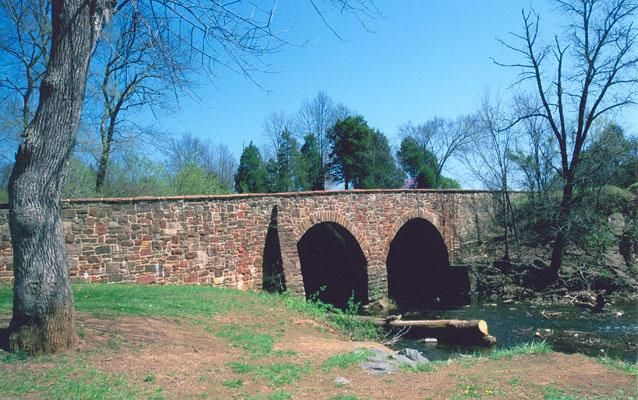 Modern photograph of the Stone Bridge at Manassas