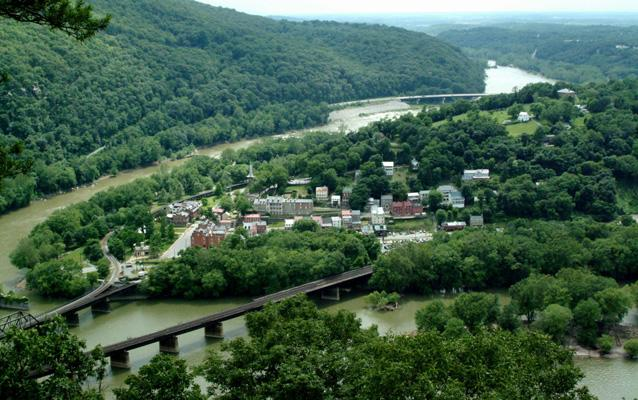 Current photograph of Harpers Ferry