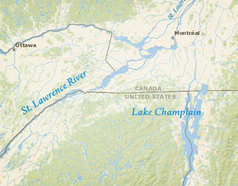 Map of the St. Lawrence Valley