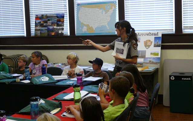 Park Guide presents students with information on Jimmy Carter and the National Park Service