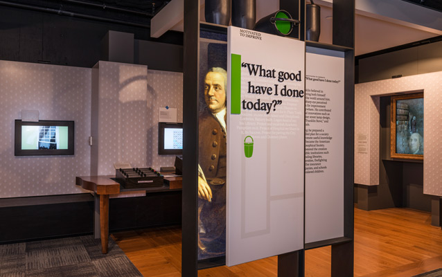 Exhibit in the Benjamin Franklin Museum
