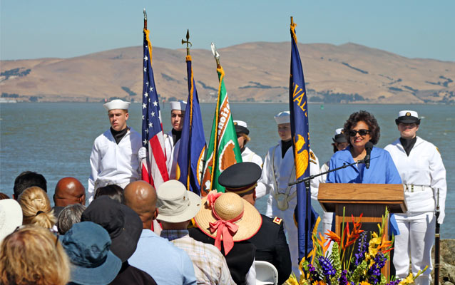 Rev. Diane speaks at Port Chicago Memorial event