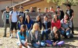 Grand Canyon School's class of 2016 pose for a group photo - 18 individuals