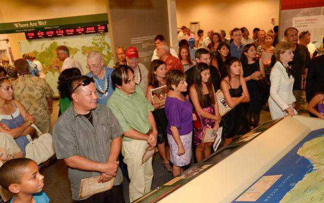 Hundreds of visitors became the first to view the park's new interactive exhibits.