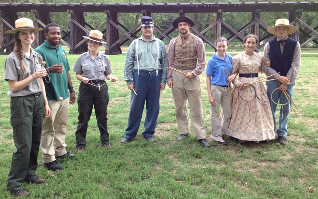 Youth employees and volunteers at Harpers Ferry.