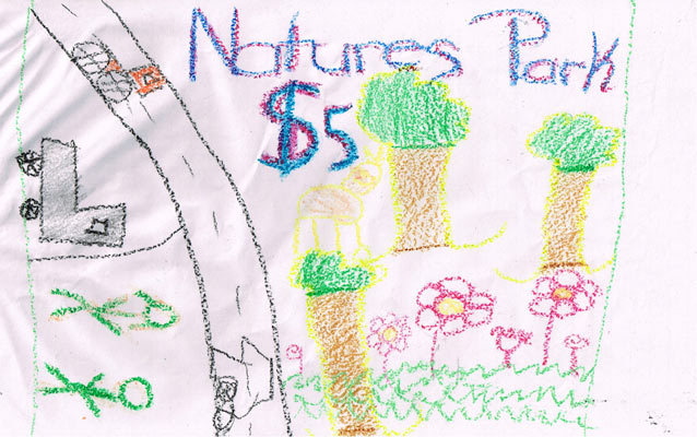 Kids created a picture of their own National Park