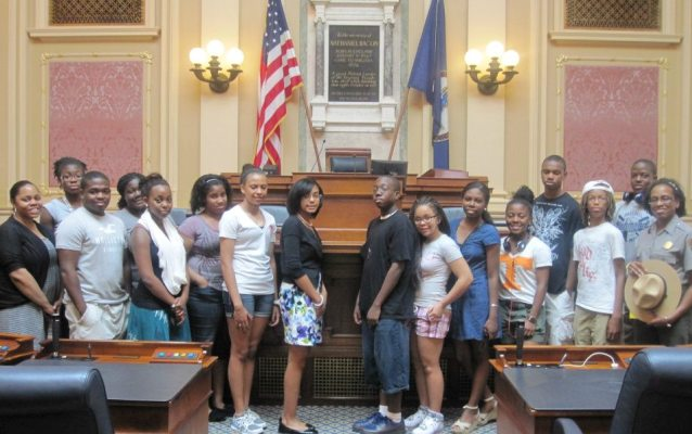 MLW Leadership Institute students at Va Capitol
