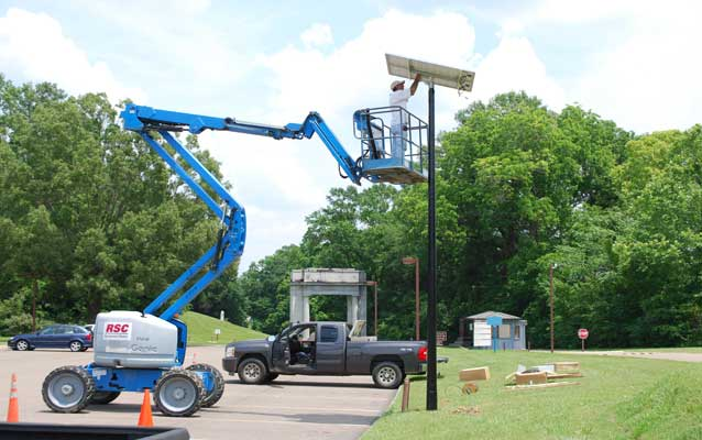 Solar Lighting Installation