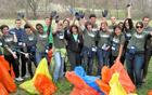 A group of international Fulbright scholars joined a local Stream Team for a cleanup.
