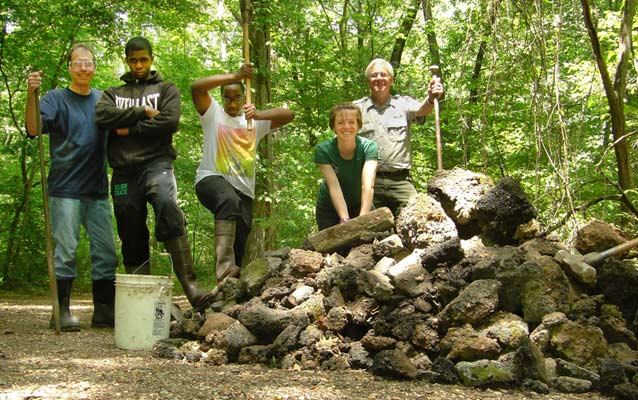 Rock Creek Conservancy Stream Team, Pinehurst Tributary, May 2012