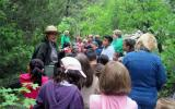 A park ranger presents a program about forest communities