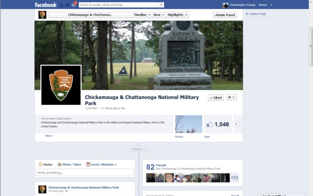 Chickamauga and Chattanooga National Military Park's Official Facebook Page