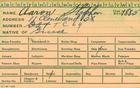 Scan of an employee identification card that showing the date of birth 1885, and the occupation ship fitter helper