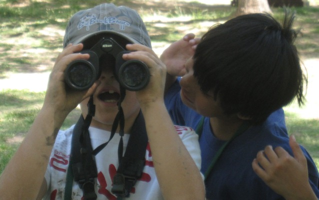 Jr Rangers Campers get a lesson in birding