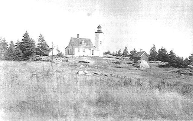 Historic photo of Baker Island Light