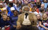 Frederick Douglass as portrayed by a re-enactor