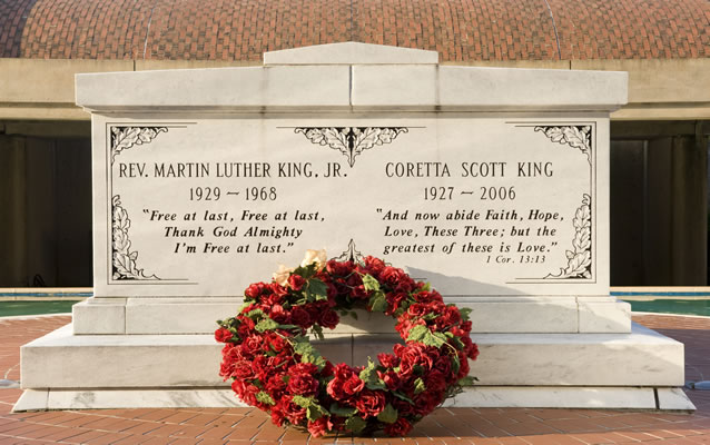 The Tomb of Dr. and Mrs. Martin Luther King, Jr.
