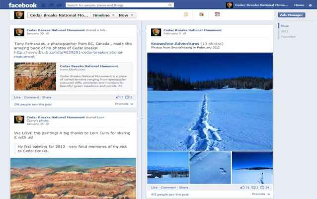 Cedar Breaks National Monument's Facebook page