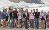 International Baccalaureate high school students on field trip to Iceberg Lake to monitor mountain goat populations.