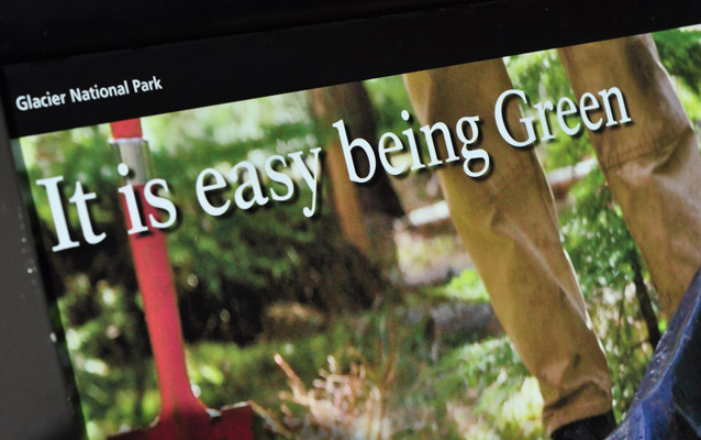 This park wayside exhibit reminds visitors sustainability is easier than we think.